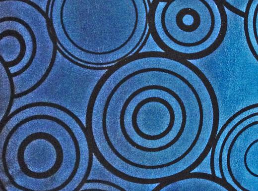 タイシルク クッションカバー  リングデザイン ターコイズブルー 【Ring Design , Turquoise Blue】 45×45cm 対応の商品写真02