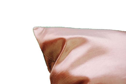 タイシルク クッションカバー  フラワー デザイン シャンパンゴールド 【Flower Design , Champagne Gold】 45×45cm 対応の商品画像07