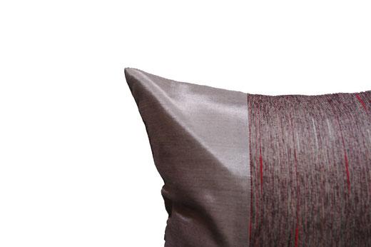 タイランド クッションカバー チェンマイ デザイン シルバー 【Chiang Mai Design , Silver】 40×40cm の商品画像02