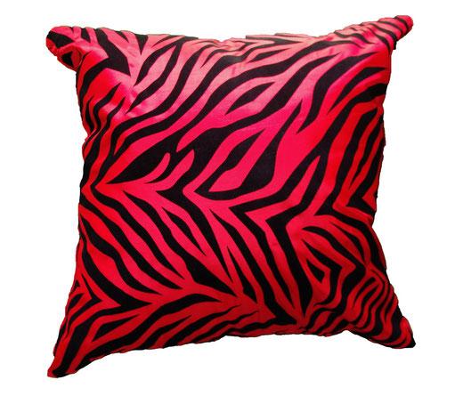 タイシルク クッションカバー  ゼブラ デザイン レッド 【Zebra Design , Red】 45×45cm 対応の商品画像01
