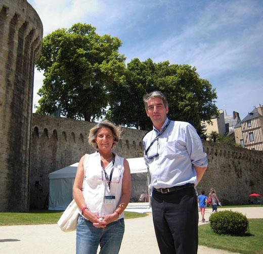 Armelle Le Minor et Brieg Haslé-Le Gall au Salon du Livre en Bretagne, Vannes, 21 juin 2014 / photo © Pierrick Moriceau