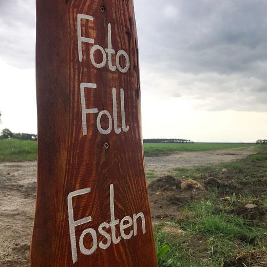 FotoFollFosten - Selfie-Point am Brandeburger Feldweg - Flaeming-Skate