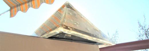 Silber-Schungit-Pyramide mit Orgonit