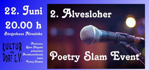 1. Alvesloher Poetry Slam mit Björn Högsdal und sienn Poeten