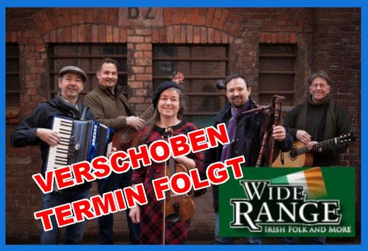 Wide Range - Irish Folk Konzert - 29. August 2020 - 20.00 Uhr im Bürgerhaus Alveslohe
