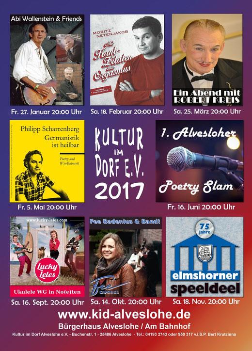 Kultur im Dorf Alveslohe - Jahresprogramm 2017