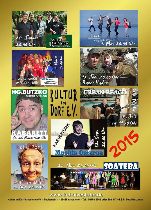 Kultur im Dorf Alveslohe e.V. Jahresprogramm 2014