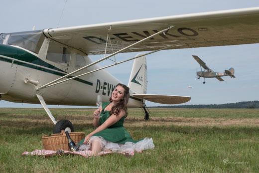 Die D-EVKO beim Classic Cessna-Meeting 2016 perfekt in Szene gesetzt (Foto: Rainer Freund)