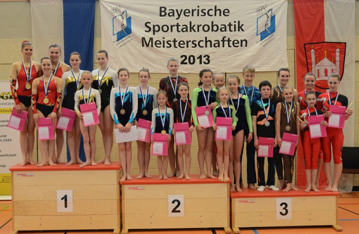 Sportakrobaten aus Kersbach und Eggolsheim an der BM 2013