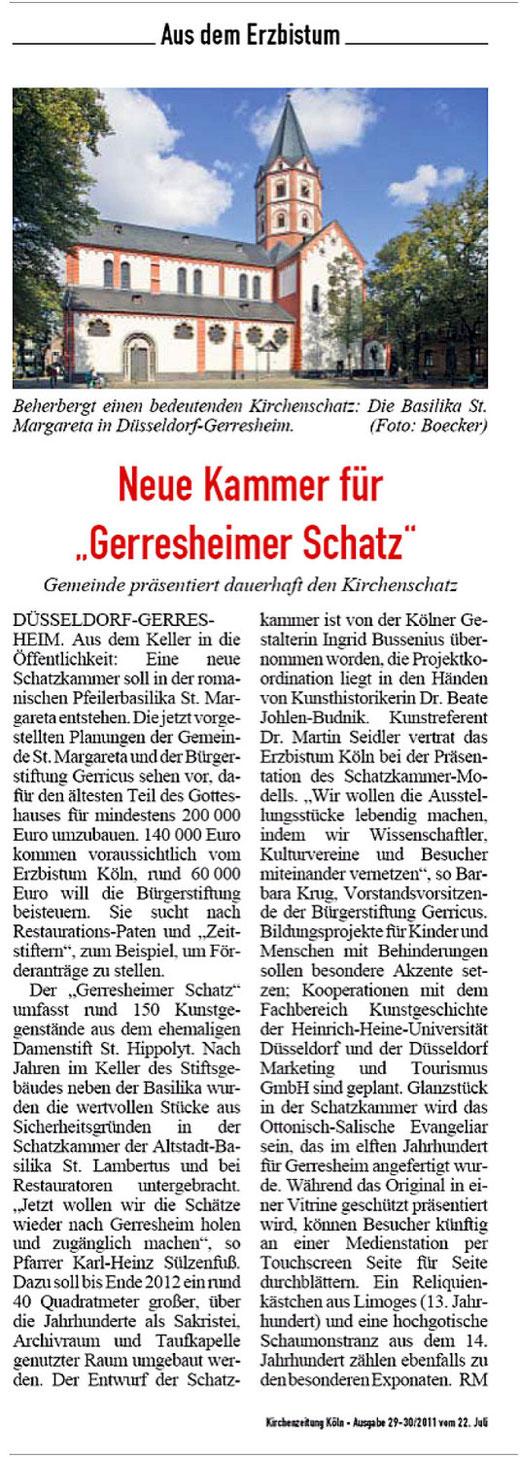 Kirchenzeitung Köln, 22.07.2011