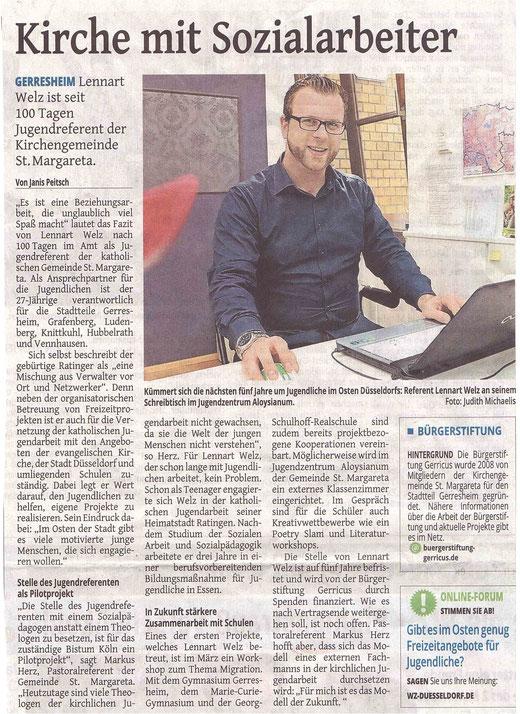 Westdeutsche Zeitung, 15.4.2015