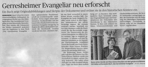 Rheinische Post, 12. Juli 2016