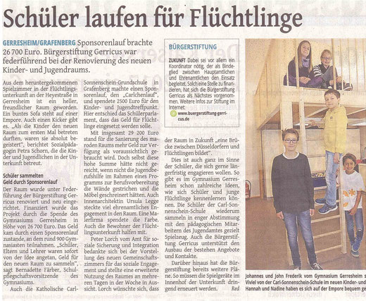 Westdeutsche Zeitung, 16.10.2015
