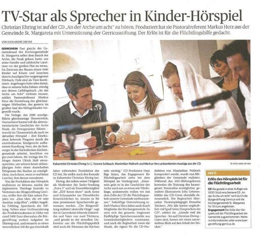 Rheinische Post, 29. Februar 2016