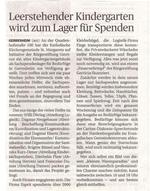 Rheinische Post, 15.7.2015