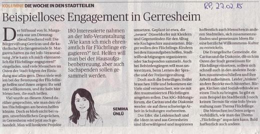 Rheinische Post, 27.02.2015