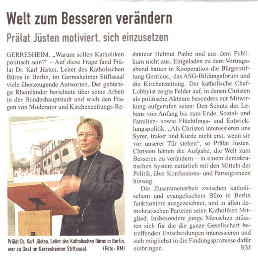 November 2014, Kirchenzeitung