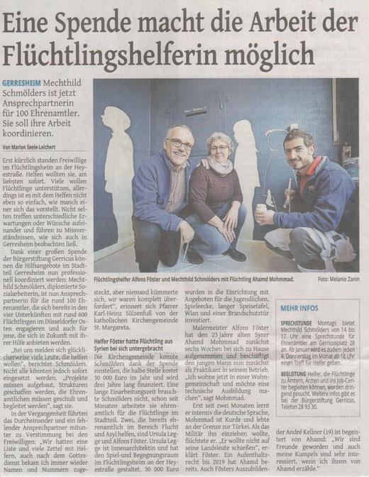 Westdeutsche Zeitung, 15.12.2015