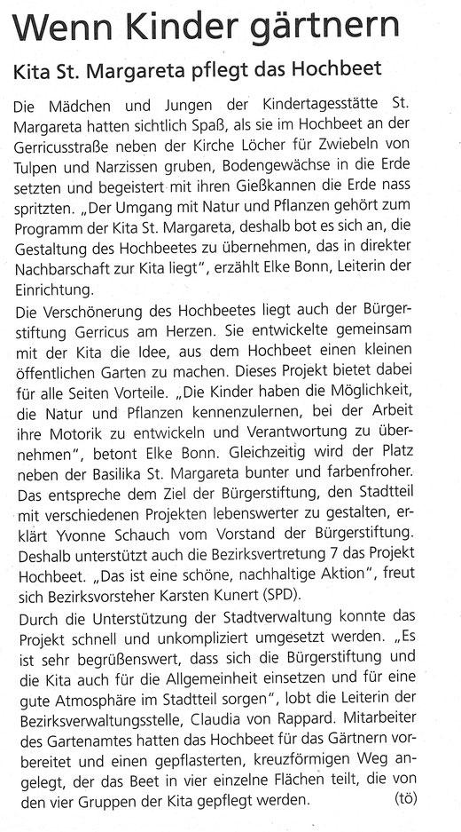 Oktober 2014, Gerresheimer Gazette
