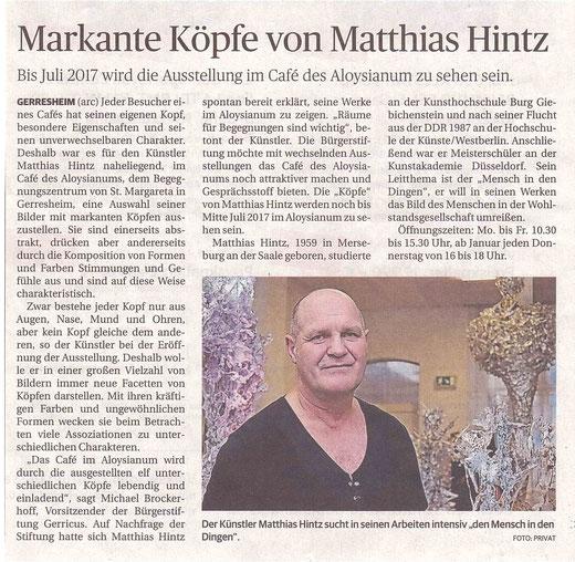 Rheinische Post, 10. Dezember 2016