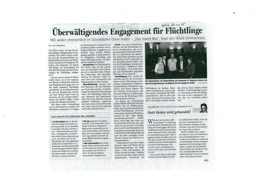 Neue Rhein-Zeitung, 26.02.2015