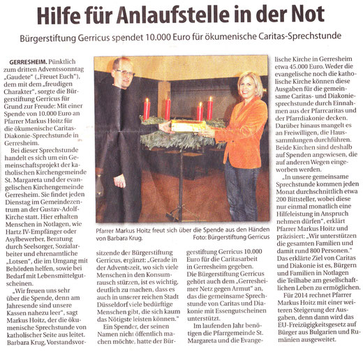 18.12.2013, Rhein-Bote