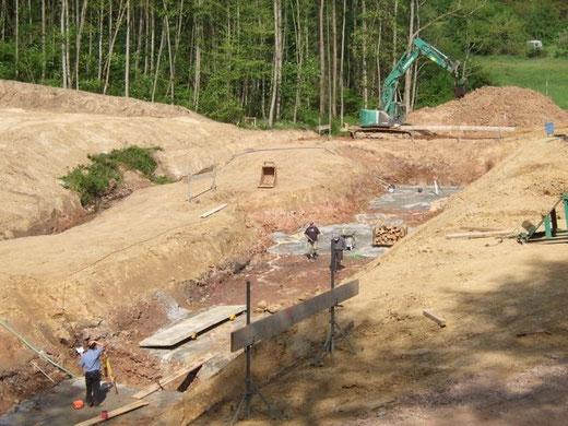 Bauarbeiten am Weihwiesenbach