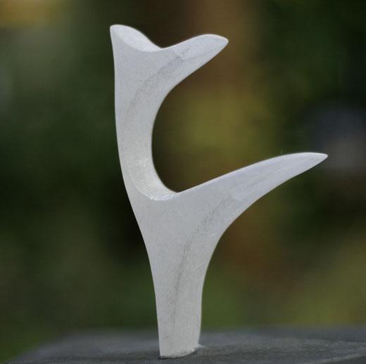 Heidrun Feistner: Ein Spatz für B. / Alabaster / Foto HF