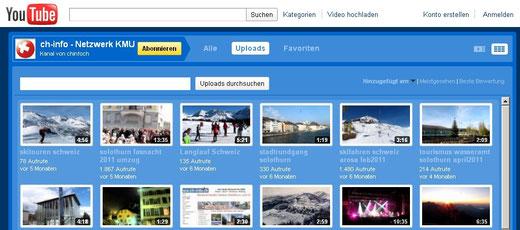 Solothurner und Schweizer youtube Filme - eine Auswahl als Überblick