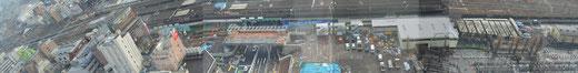 中野サンプラザより眺めた、中野駅周辺再開発地区の様子 2012/2/23