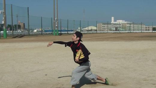 ピッチング練習2