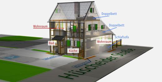 Isometrische 3D-Ansicht