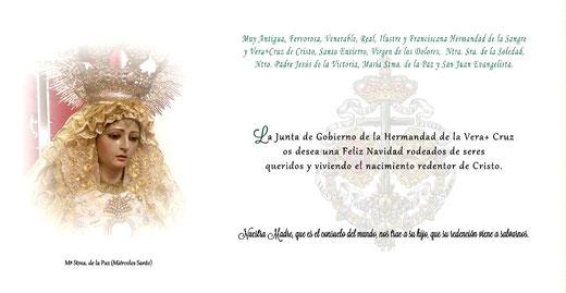 Felicitación navideña Hdad. de la Vera+Cruz