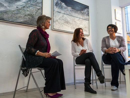 Ausstellung , GEDOK Heidelberg, GEDOK Galerie, Ulli Göttert interviewt Sabine Schreier und Sandra Obel