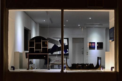"""Ausstellung Vera Bonsen 2019 """"Inszenierte Räume , GEDOK Heidelberg, GEDOK Galerie"""