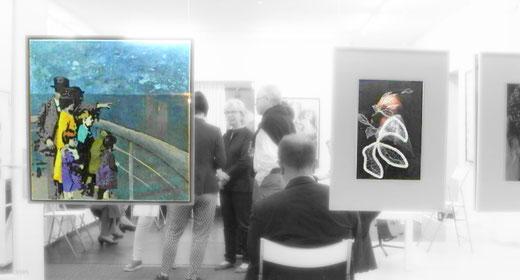 """Verniss. """"in bester Gesellschaft"""" 2017  Fotos: Hans Schierz-Crusius  Werke von Michaela Cremer, Hildegard Parekh, Petra Lindenmeyer"""