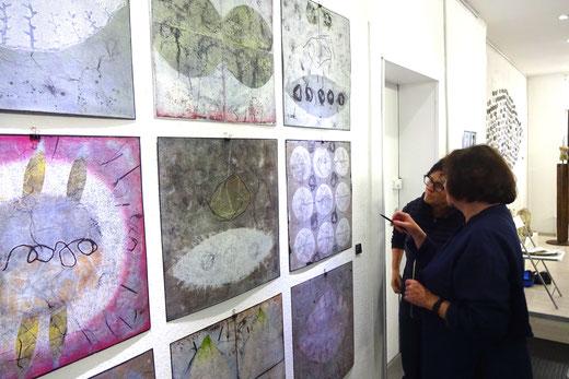 Ausstellung , GEDOK Heidelberg, GEDOK Galerie, Gabi Wagner - Drucke, Mischtechnik