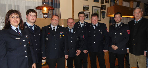 1.Kdt V. Schmid, M. Köberl, H. Köberl, S. Dorstmann, M. Hamperl, M. Schmid, A. Eder, BGM E. Schmid