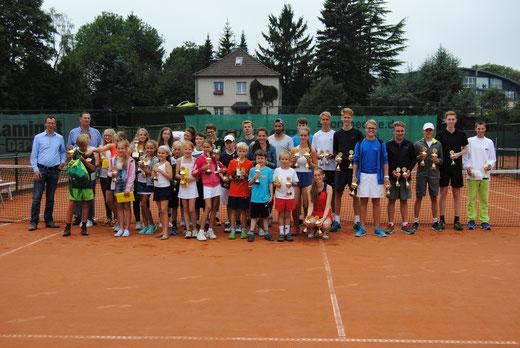 Sieger und Platzierte der 50. Wuppertaler Stadtjugendmeisterschaften