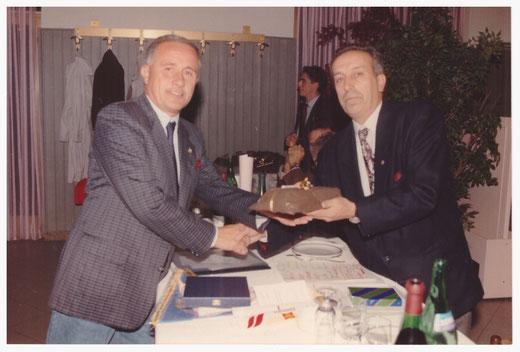 L'A.B. Pietro Severgnini con l'amico di sempre, l'A.B. Giovanni Ghezzi