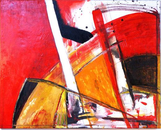 """""""Schrege Balken 2"""" 80x100 Acryl auf Leinwand 2008"""