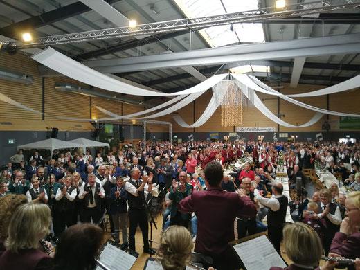 Chorprobe der Vereine beim Musikerbundfest in Oythe