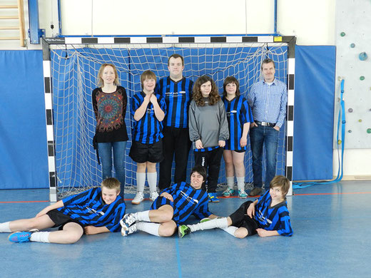 Die Mannschaft der Wartbergschule 2015.