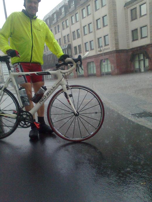Ein Trost: das Rad wird sauber..