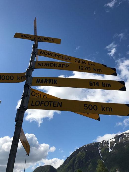 Nordkap: 1270 km
