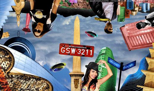 Belo Horizonte . Collage / artexpreso . rodriguez udias 2012