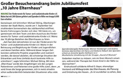"""Zeitschrift """"WIR"""" - Die Zeitschrift der Deutschen Kinderkrebsstiftung 04/13"""