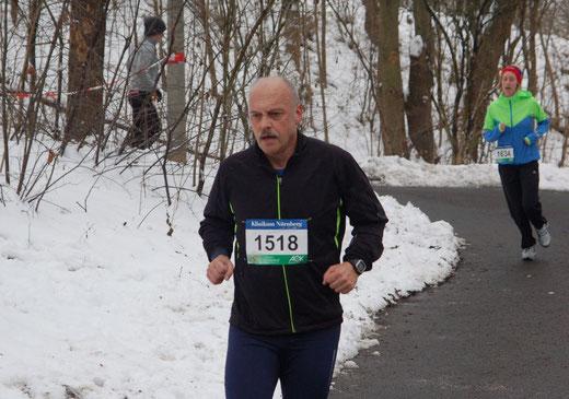 Die geschlossenen Fäuste zeigen es: Es war für mich ein Kampf um jeden Meter, kein Rennen!