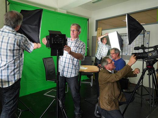 Foto - Green Screen mit Klon Mitarbeitern