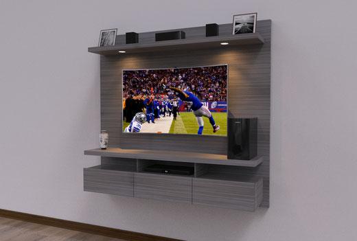 Mueble flotante para tv spretto muebles para tv centros Muebles flotantes para tv
